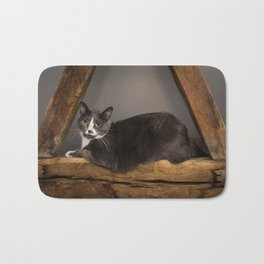 Cat on tree Bath Mat