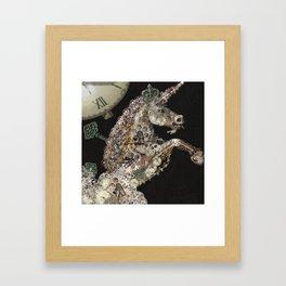unicorn - licorne - unicorno - 獨角獸 - Einhorn - magique - magic - tayatamelie am-steampunk Framed Art Print