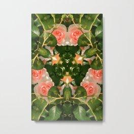 Pattern of pink roses 01 / Sleeping Beauty Metal Print