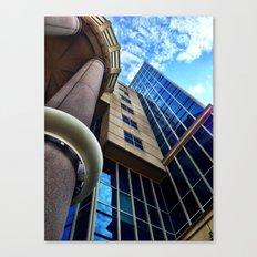 UFO Blue Building  Canvas Print