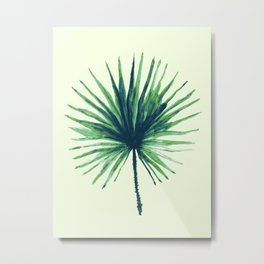 Palm Leaf - Fan Metal Print