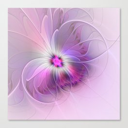 Abstract Flower With Pink And Purple Fractal Canvas Print