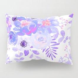 Lilac lavender violet pink watercolor elegant floral Pillow Sham