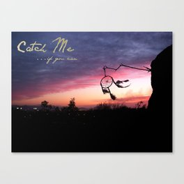 Dreams Can't Be Caught Canvas Print