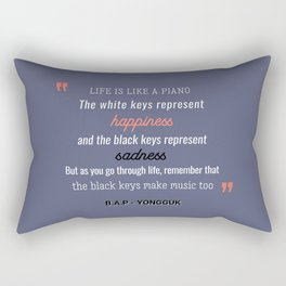 B.A.P Yongguk Quote Rectangular Pillow