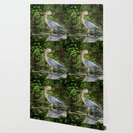 Heron's beakfast Wallpaper
