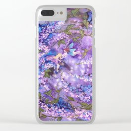 Whispers in the Lilacs Clear iPhone Case