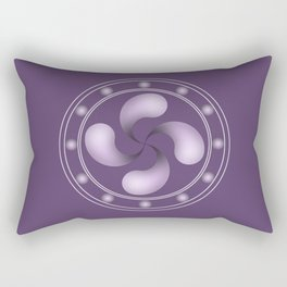 LAUBURU IN PURPLE (abstract geometric symbol) Rectangular Pillow
