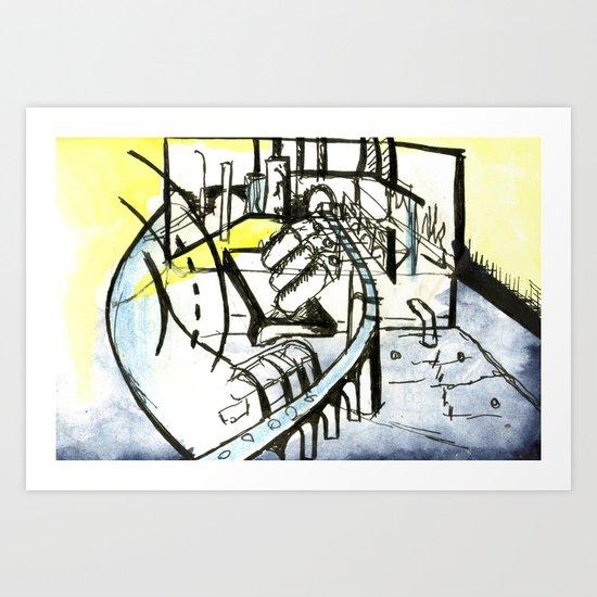 Industrial Landscape Art Print