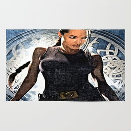 Angelina Jolie as Lara Croft Rug