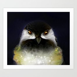 The Black Capped Chickadee Art Print
