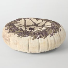 Botanical Pentacle: Wild Witch Floor Pillow