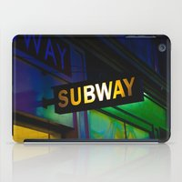 subway iPad Cases featuring Subway by Mark Spence