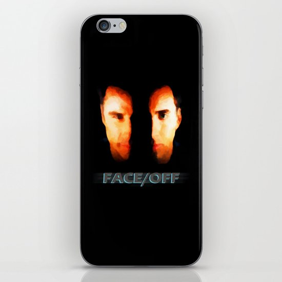 Face Off - Portrait Painting Style iPhone & iPod Skin