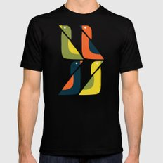 Duck Duck LARGE Black Mens Fitted Tee