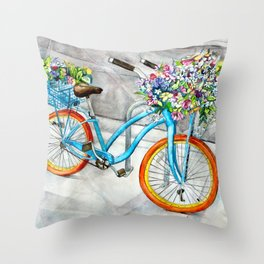 Cheerful Ride Throw Pillow