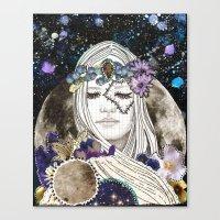 luna Canvas Prints featuring Luna by Jenndalyn