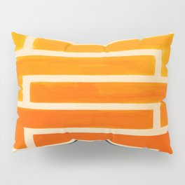Orange & Black Geometric Pattern Pillow Sham