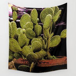 Cactus in a Pot Wall Tapestry