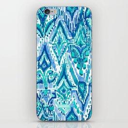 AQUA FRINGE TRIBAL Ikat Watercolor iPhone Skin