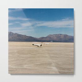Space Shuttle in 1982 The STS-3 landing on Northrup Strip at White Sands New Mexico Metal Print