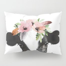 Cow with flower crown Pillow Sham