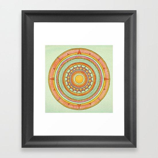 Sundial Framed Art Print
