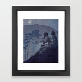 """Give me nights perfectly quiet... and I looking up at the stars"" (Margaret C Cook, Leaves of Grass) Framed Art Print"