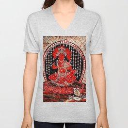 Hindu Lakshmi 1 Unisex V-Neck