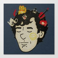sherlock Canvas Prints featuring Sherlock by Derek Eads