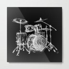 Black Drums Metal Print