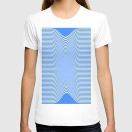 Blue Stripes Illusionary  T-shirt