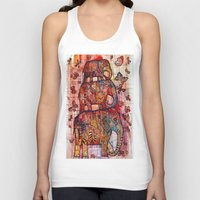 elephants Tank Tops featuring Elephants by oxana zaika