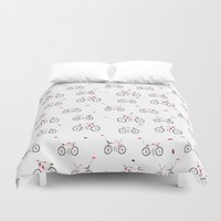 bikes Duvet Covers featuring bikes by Marcelo Badari