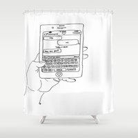 text Shower Curtains featuring Text by CreatureContours