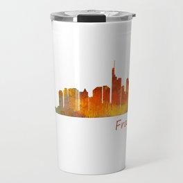 Frankfurt am Main, City Skyline, Citiscae art watercolor V1 Travel Mug