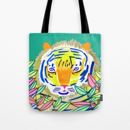 Tiger in Bushes. Tote Bag