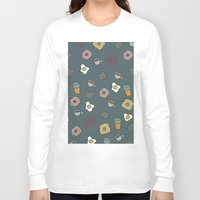 cafe Long Sleeve T-shirts featuring 70S Cafe by Calepotts