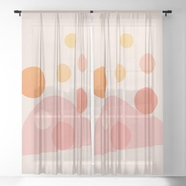 Abstraction_COLOR_DOTS_PLAYFUL_Minimalism_001 Sheer Curtain