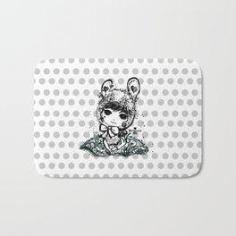 girl art - cute bunny girl Bath Mat