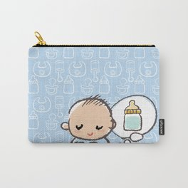 Baby boy Thinking of Milk Carry-All Pouch