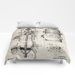 Fire Fighter Patent - Fire Hydrant Art - Antique Comforters
