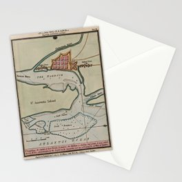 Vintage St Augustine FL Map (1802) Stationery Cards