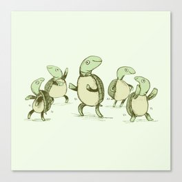 Dancing Turtles Canvas Print