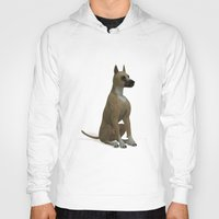 great dane Hoodies featuring The Great Dane by Texnotropio