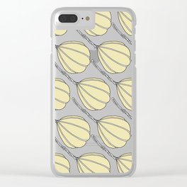 Provolone (cheese pattern) Clear iPhone Case