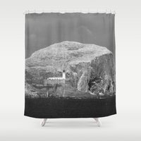scotland Shower Curtains featuring Bass Rock, Scotland by Phil Smyth