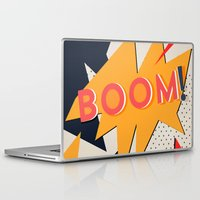 comic Laptop & iPad Skins featuring COMIC BOOM by Allyson Johnson