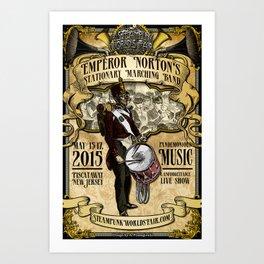 The 2015 Steampunk World's Fair Poster 4 - Emperor Norton Art Print