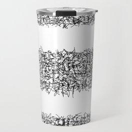 tri white Travel Mug